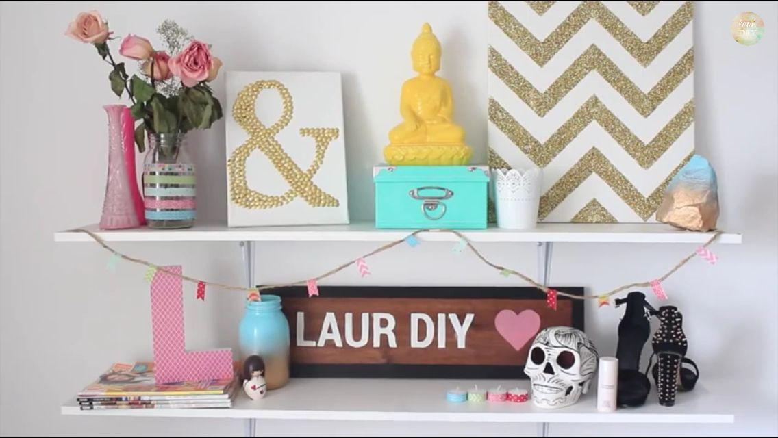 Desk decor diy diy desk decor affordable diy desk decor for Room decor laurdiy
