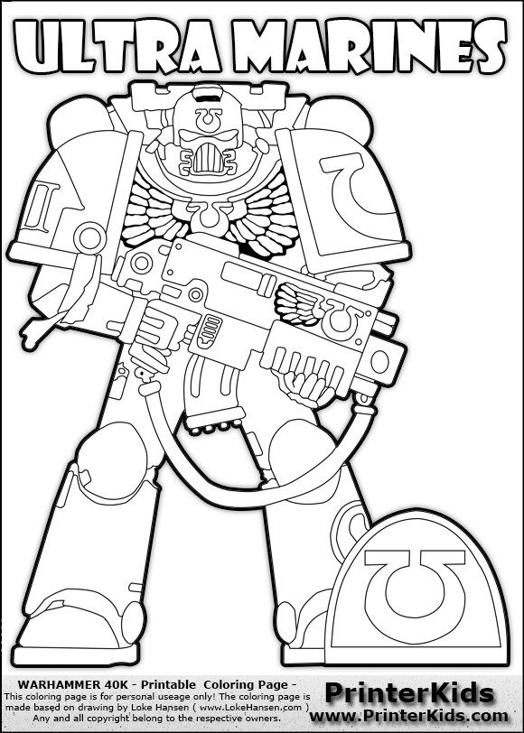 Pin By Sean On 40k Coloring Books Space Marine Coloring Pages
