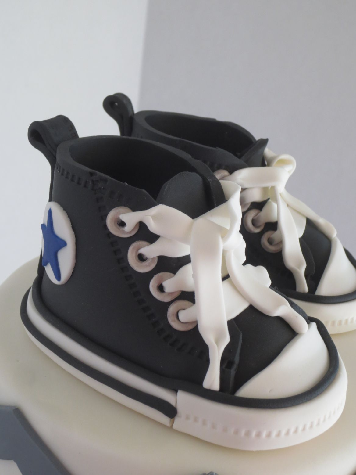 tolerancia Generador Circunferencia  Chevron Baby Shower Cake With Fondant Converse Shoes – Byrdie Girl Custom  Cakes | Baby shoes pattern, Fondant baby shoes, Baby shoes