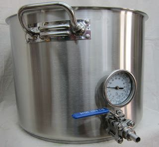 25 Gallon Heavy Duty Tri Clad Kettle Thermometer And Ball Valve Brewing Equipment Kettle Brewing