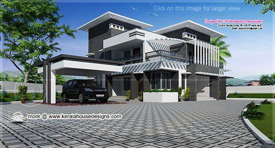 Contemporary Home Design In 2491 Sq Feet Luxury Modern Homes Kerala House Design House Design