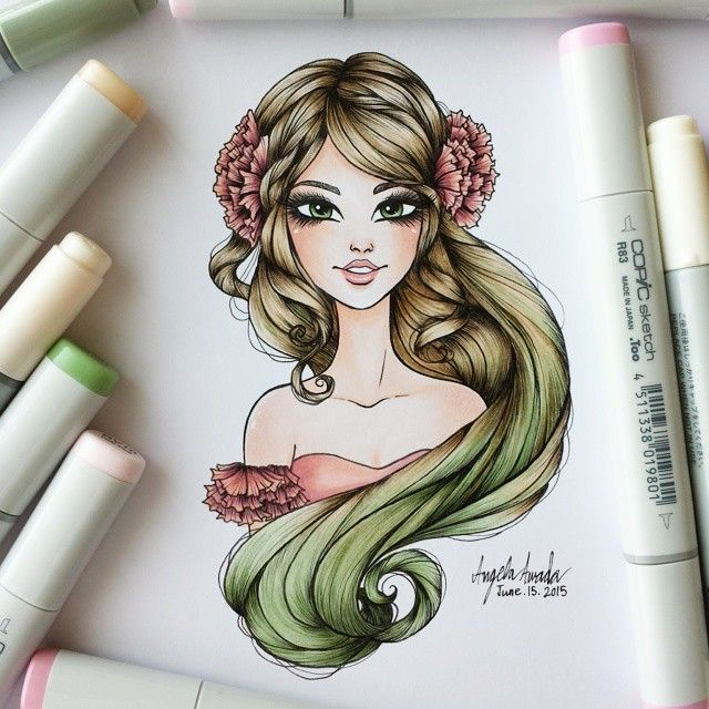How To Draw Hair With Images Copic Marker Art Copic Art