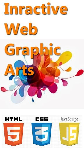 Online responsive graphic arts created with HTML5, CSS and