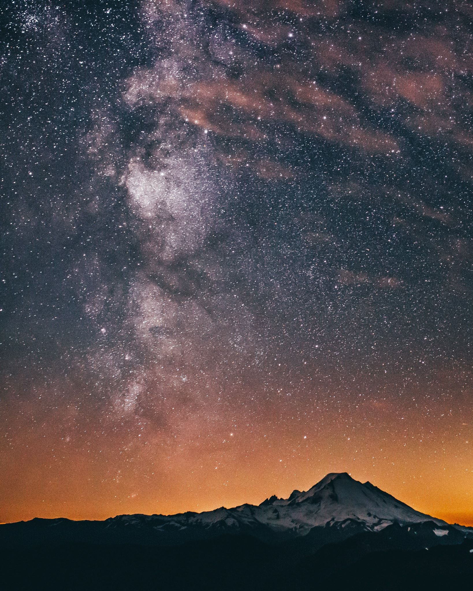 Milky Way Over Mt Baker Summer throwback of the Milky Way rising over Mt