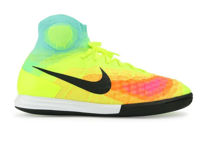size 40 56f58 40dc7 Nike Men s MagistaX Proximo II Indoor Soccer Shoes Volt Black Hyper Turquoise  Soccer