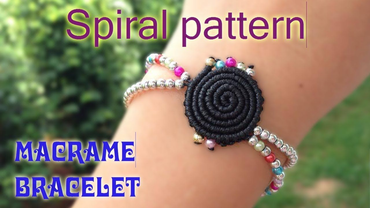 Macrame tutorial - The Simple spiral pattern bracelet - Step by step gui. 749a09f0602