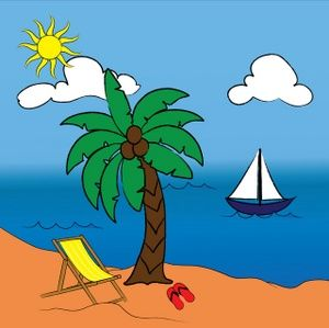16++ Palm tree and beach chair clipart information
