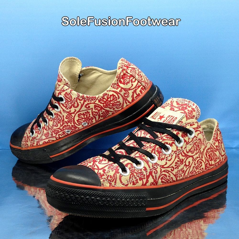 0da0581d873e41 Converse Womens All Star Vintage Trainers Red sz 5 Floral Tactic Sneakers 7  37.5