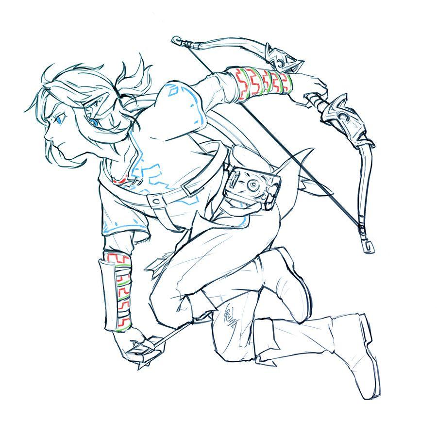 legend of zelda link  dessin drawing zelda