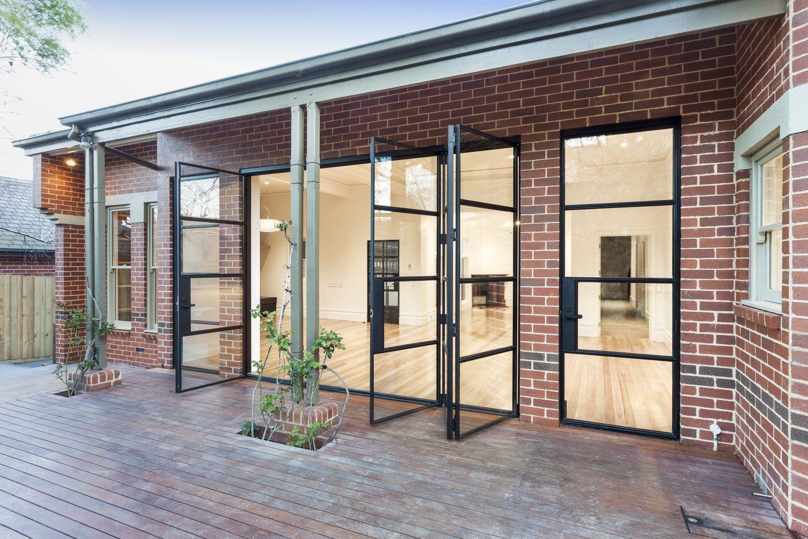 Canterbury Steel Windows Australia Fixed Glass Panel Onto Deck Steel Windows Steel Doors Stacker Doors