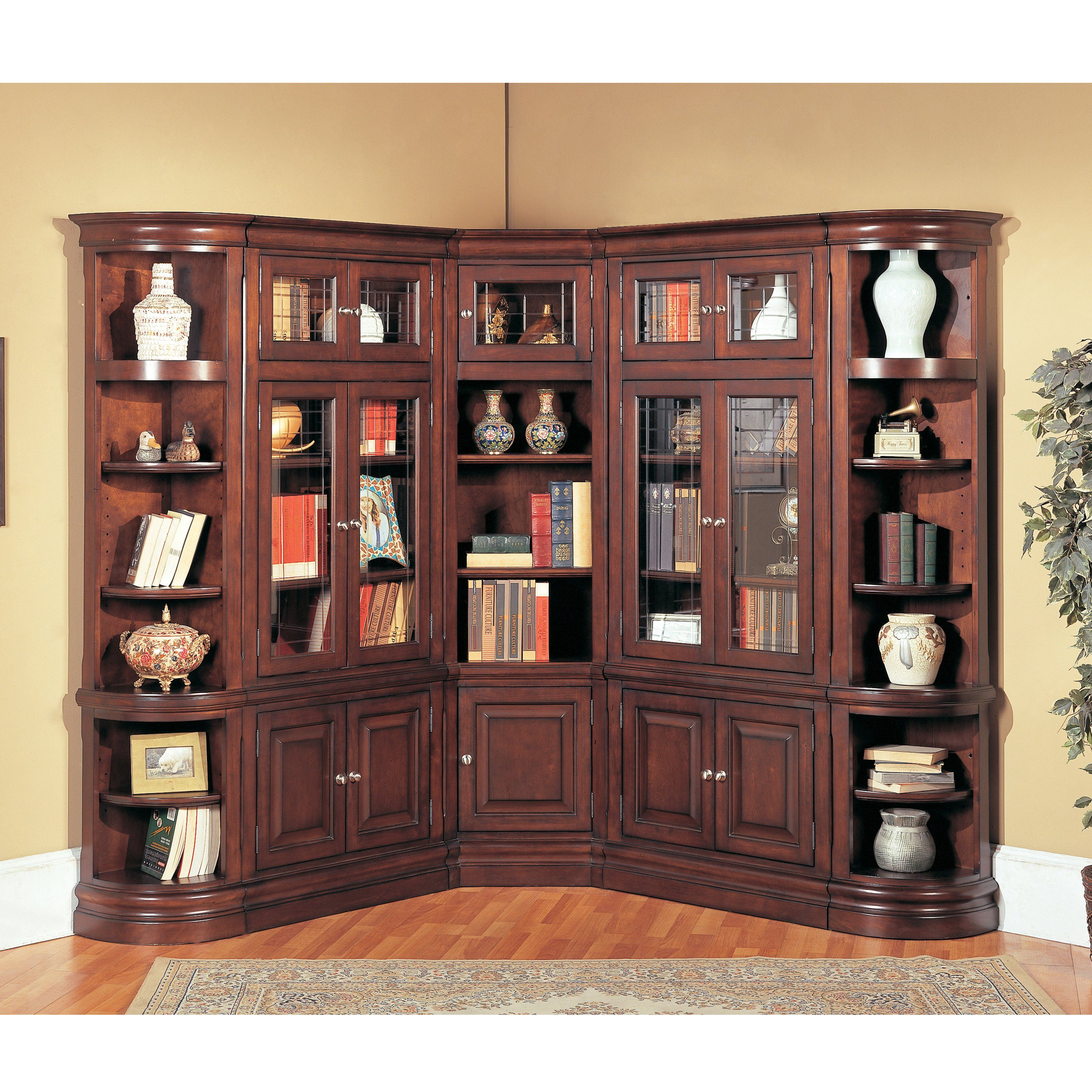 Parker House Sterling Corner Wood Bookcase Wall 3825 36 On Bookcases Galore