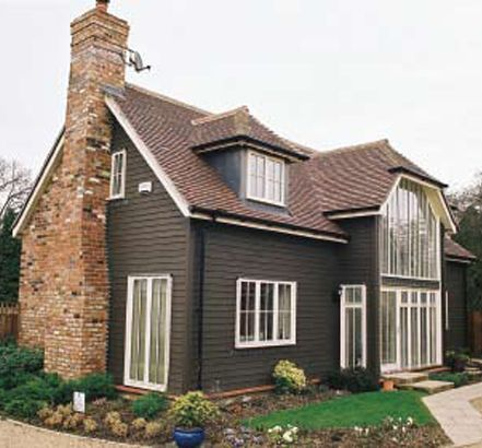 Exterior wood cladding dark brick google search cladding pinterest modern dark and - What paint to use on exterior wood model ...