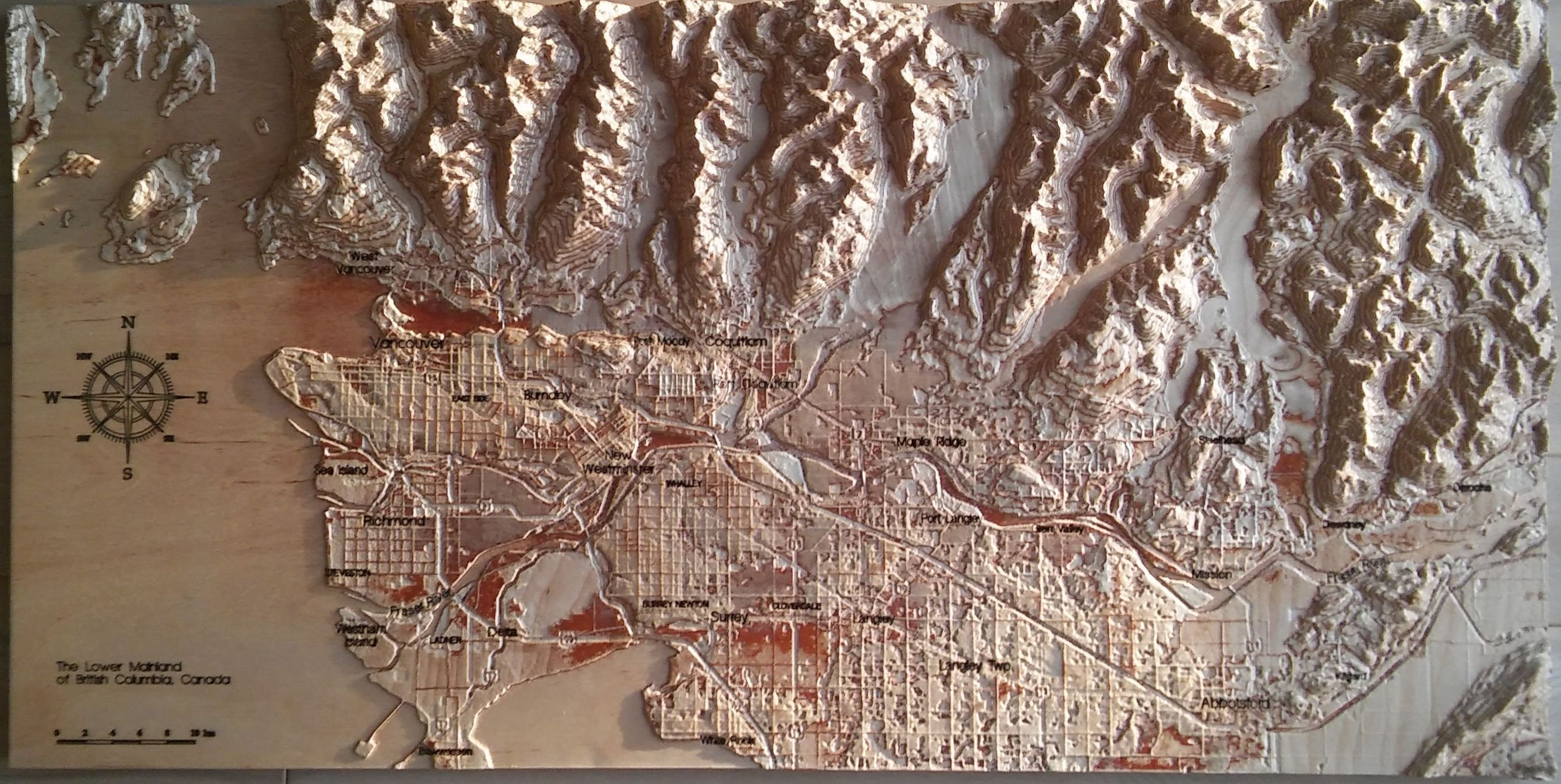 Vancouver, Canada, 3D Wooden Map, Natural Colors in 2019 | 3D wooden on central park map, grand central map, chinatown map, state fair map, memphis map, new york public library map, streets of new york city map, soho map, san francisco map, sugar map, times square map, fargo map,