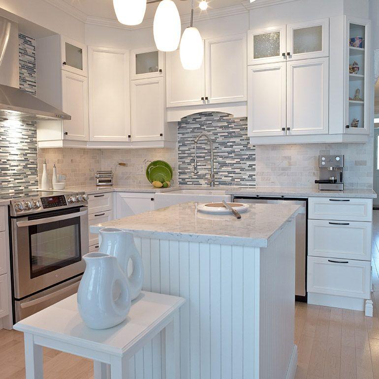 Armoires en m lamine polyester avec comptoir de quartz pour cuisine style classique ma future - Comptoir pour cuisine ...