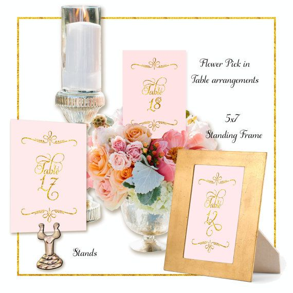 wedding table numbers digital print your own 9 95 diy printable