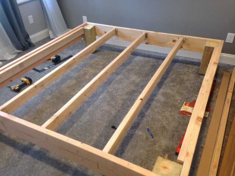 The Mattress Underground King Sized Deck Diy Bed Frame With Foundation For 100 1 2 Diy King Bed Frame Diy Bed Frame King Size Bed Frame Diy