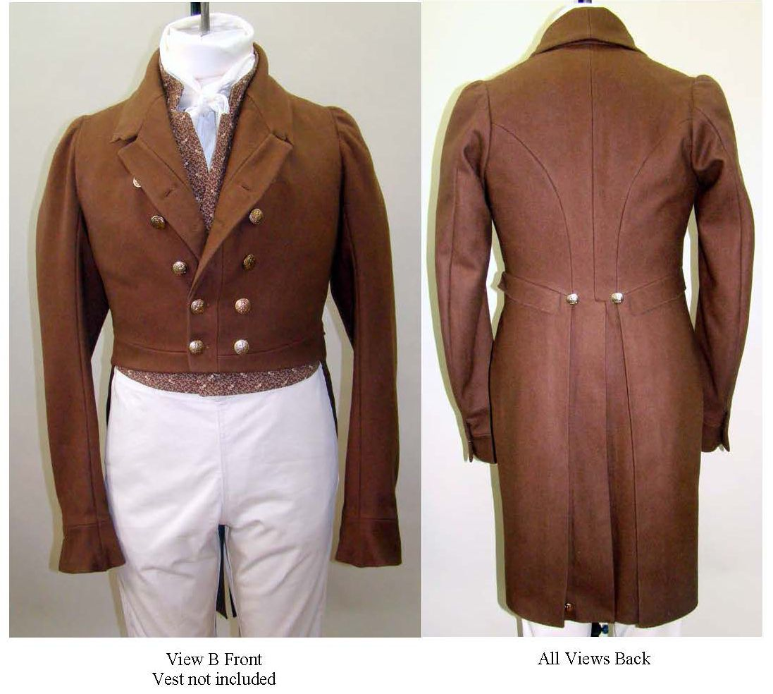 Mens regency tailcoat pattern circa 1810 1830 sarah stitches mens regency tailcoat pattern circa 1810 1830 jeuxipadfo Images