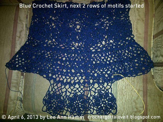 Crochet Gotta Love It!:  Blue Crochet Skirt