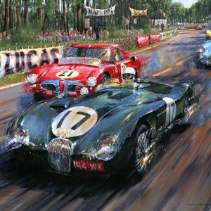 Superbe LeMans 1953_Watts 300x300 (300×300) · Car PaintingLe MansAutomotive  ArtSports ...