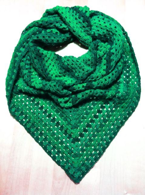 Half Granny Square Tuch Crochet Crochet Scarves Crochet Und Shawl