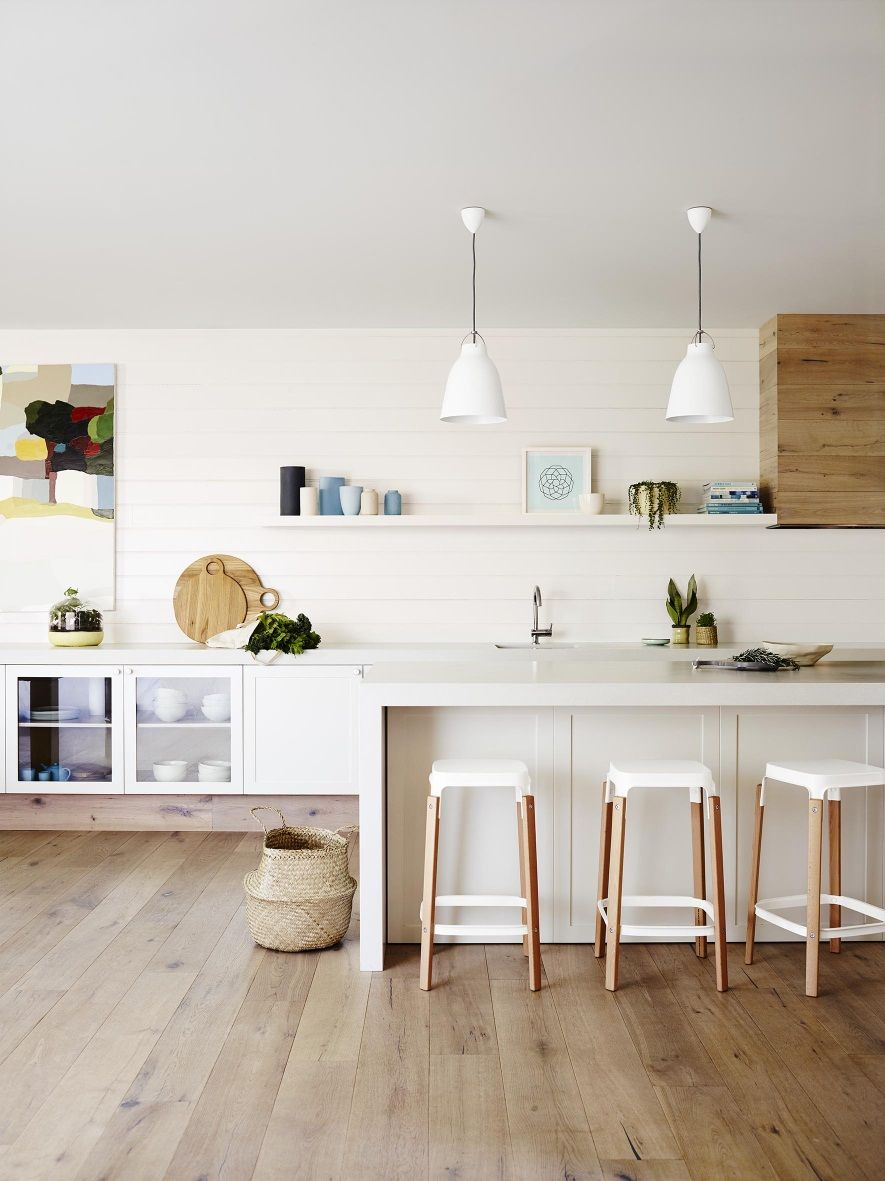 White Kitchen Wooden Floor How To Find The Right White Dulux Natural White The Floor And