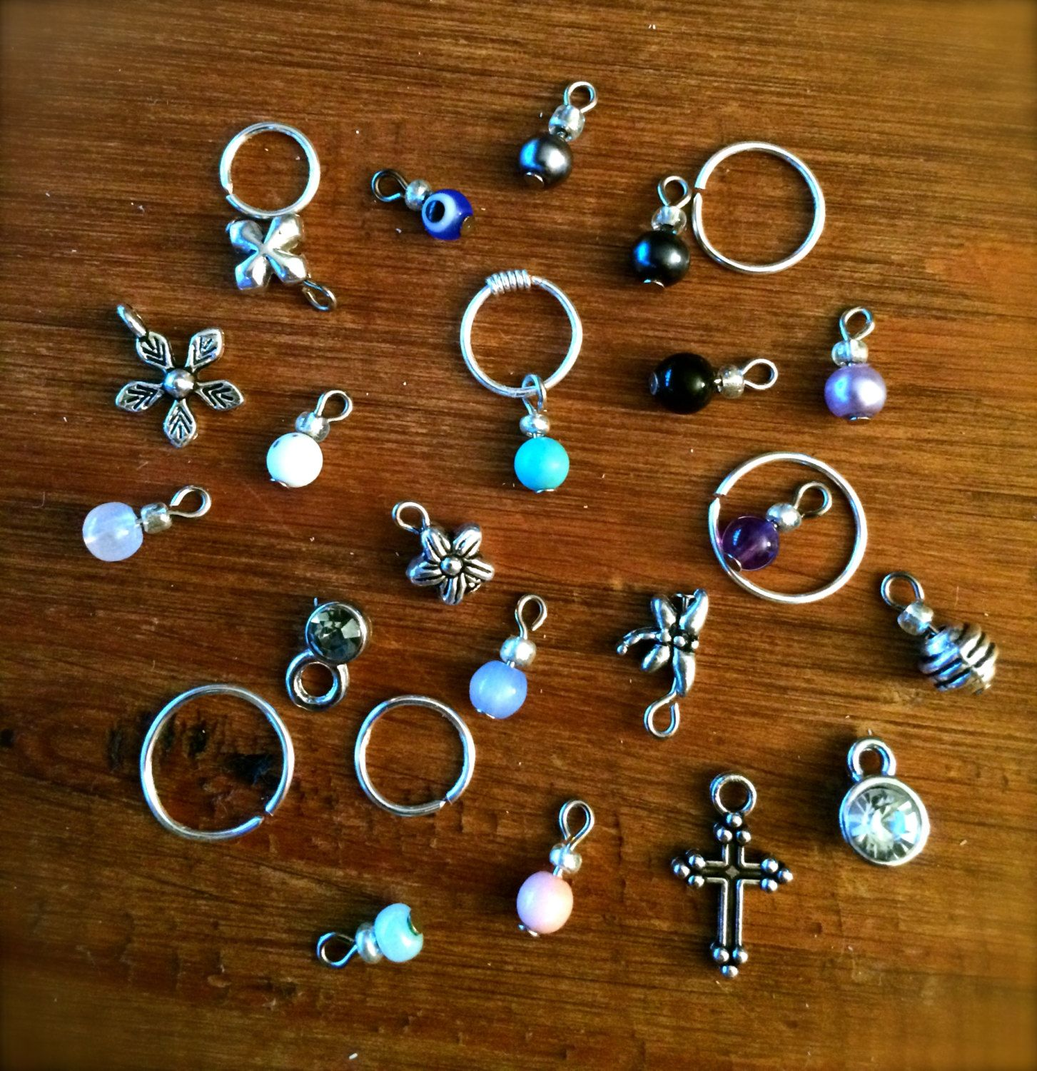 Cartilage Earring Septum Ring Choose A Charm Earring Hoop Endless Hoop  Earring Tiny Hoop Tragus Earring