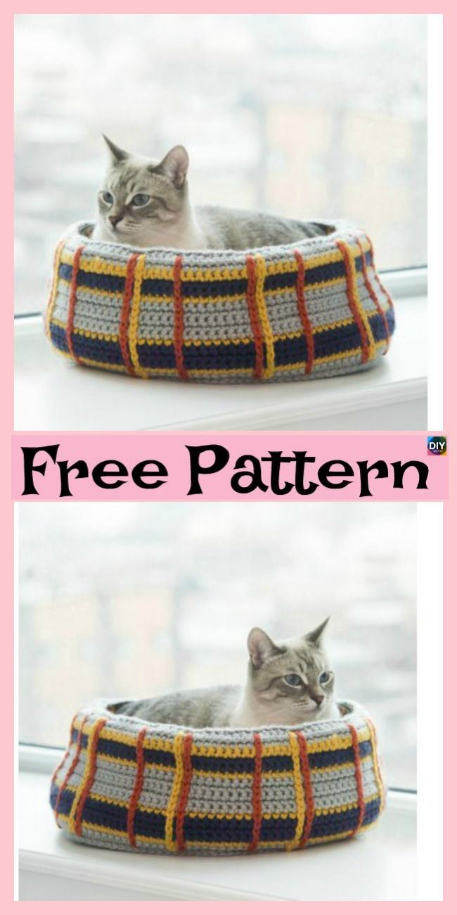 10 Awesome Crochet Cat Bed - Free Patterns | Crochet and knit ...