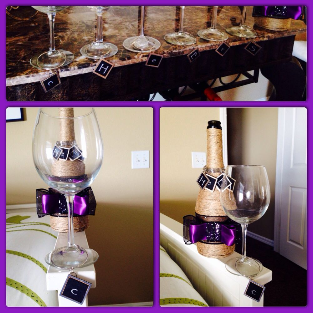 Another just to show how the wine charms work! Never mix up your glass and then display the charms in style after the party!