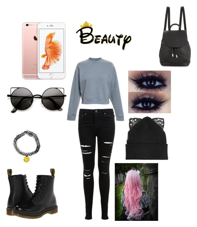 """""""Untitled #247"""" by emilyagustin on Polyvore featuring beauty, Miss Selfridge, Acne Studios, Dr. Martens, Cotton Candy, rag & bone and Silver Spoon Attire"""
