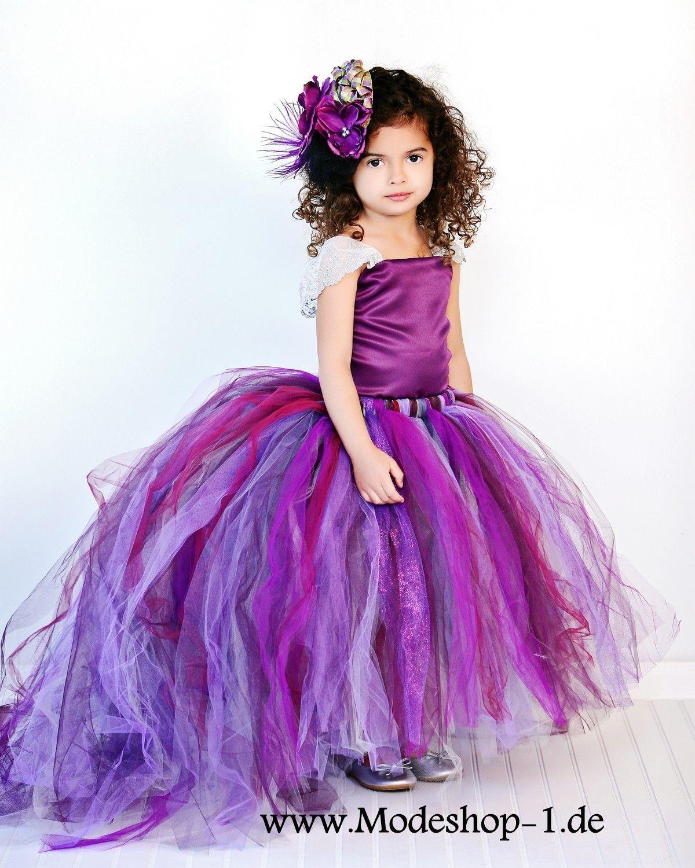 Prinzessin Blumenmädchenkleid in Lila   Blumenmädchen ...