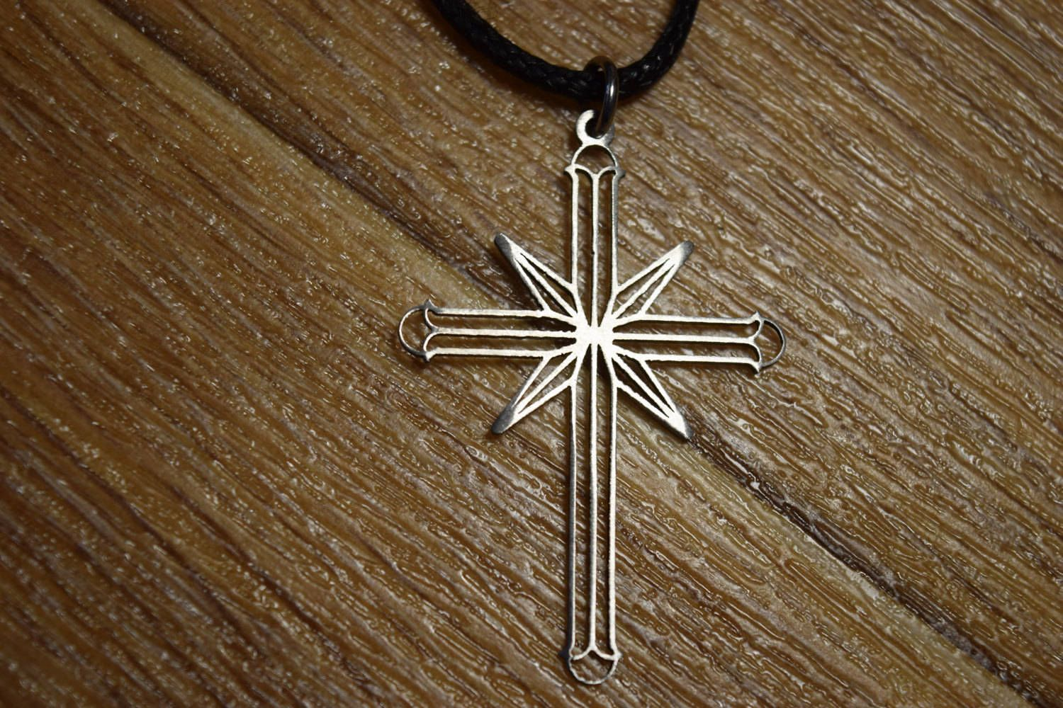 Scientology Cross Necklace Religion Pendant Symbol Dianetics