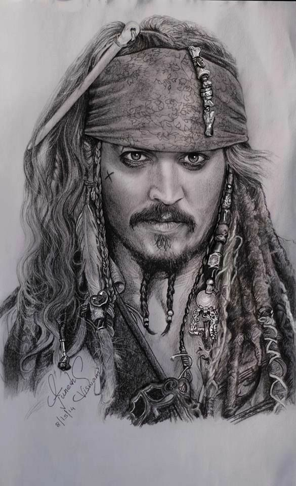☠a wonderful art edit ☠of jack sparrow from the pirates of the caribbean trilogys ☠