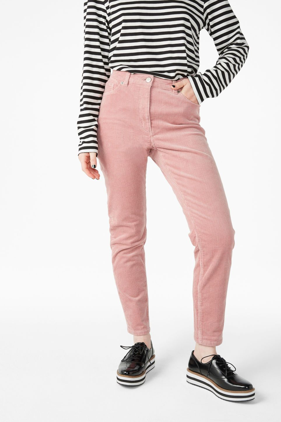 Corduroy trousers - Naughty apricot - Trousers   shorts - Monki GB ... 3788e9f0497d