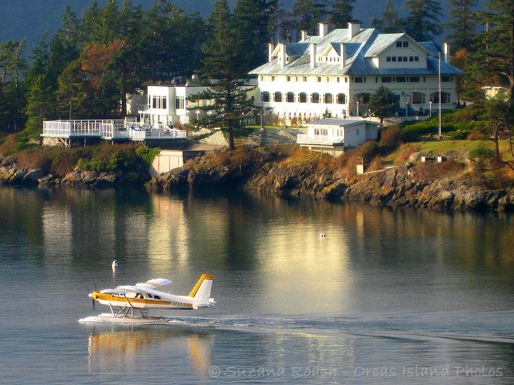 Seaplane begins takeoff from Rosario Resort   San juan islands ...
