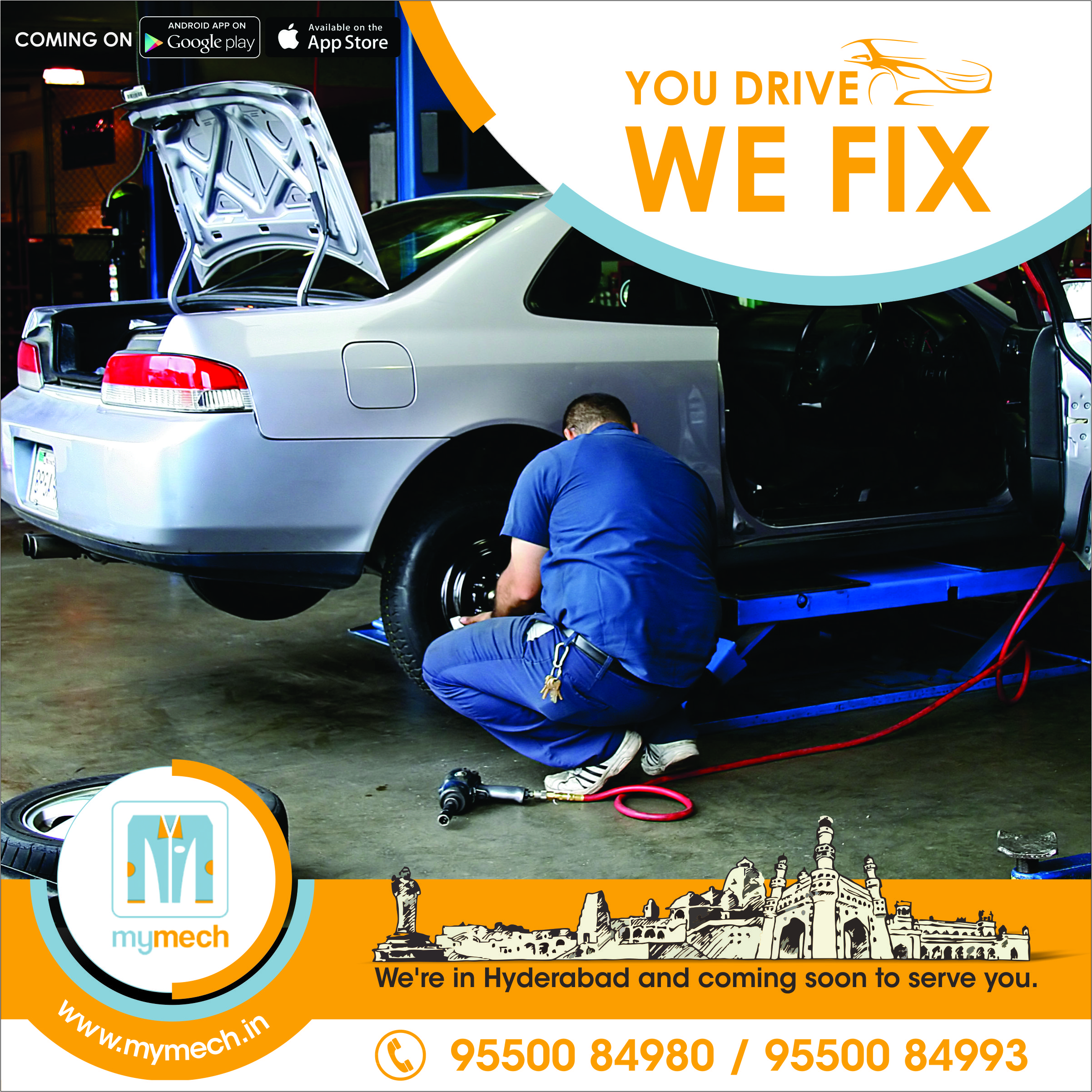 Service your multi branded Car with multi repair services at mymech