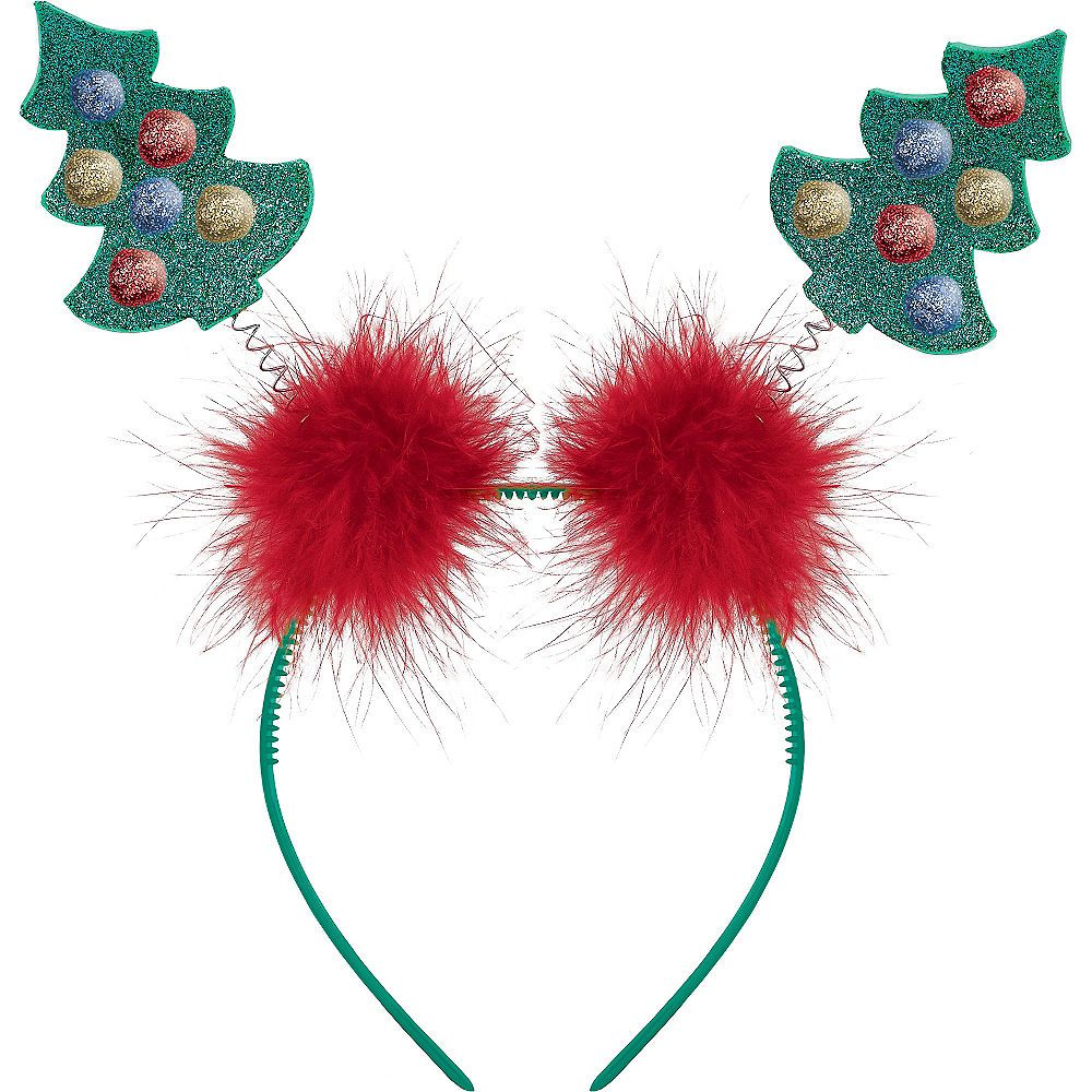 Christmas Tree Head Bopper Image 1 Christmas Tree Glitter Christmas Christmas Accessories