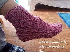 Photo of Babbucce a maglia per adulti di Aglaé Laser: traduzione in italiano.
