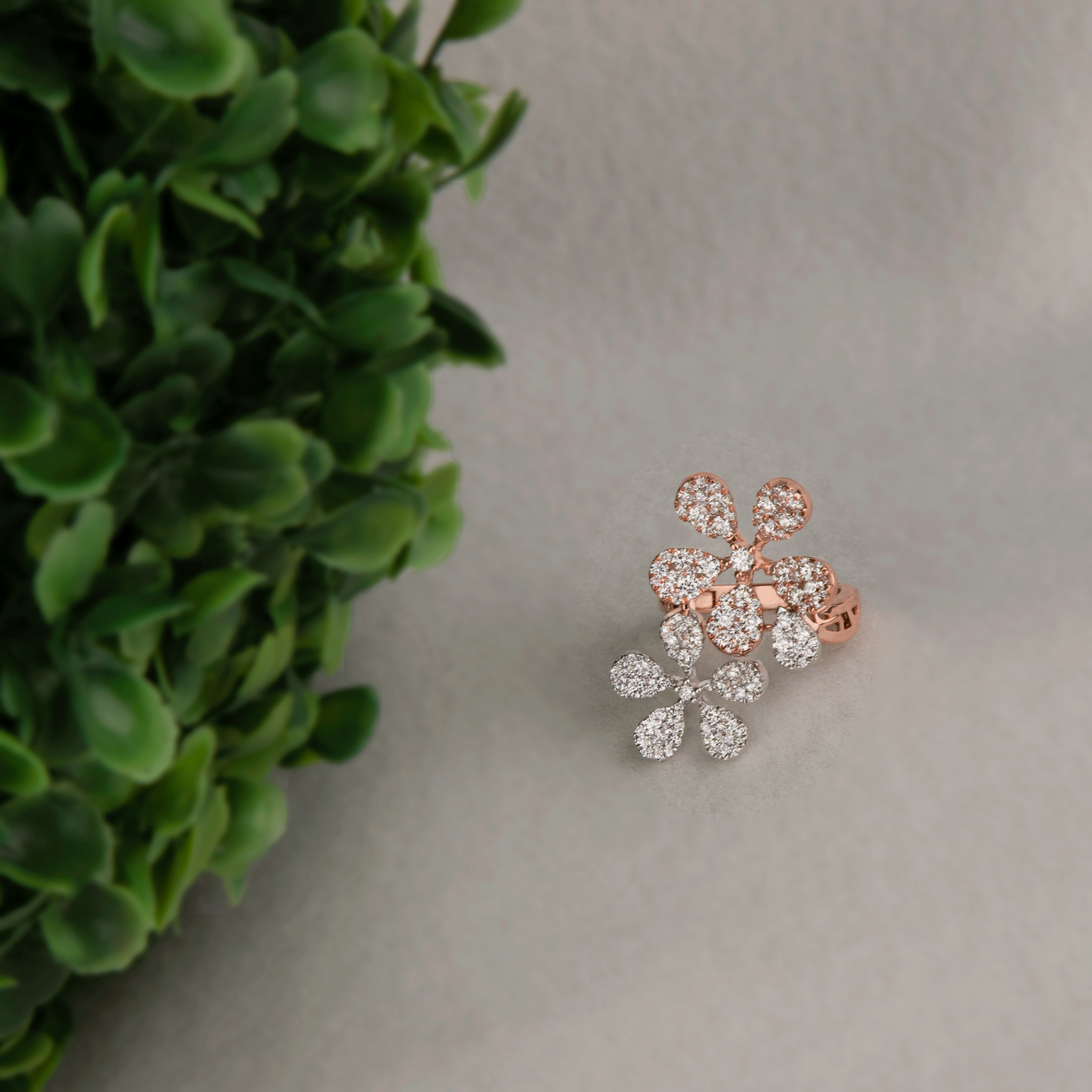 081b9b9c0 How about a diamond blossom?💎 Check out this amazing diamond ring only at  the