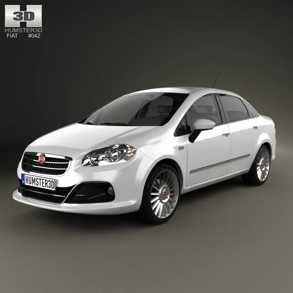 fiat linea 2013 3d model from humster3d. price: $75 | fiat 3d
