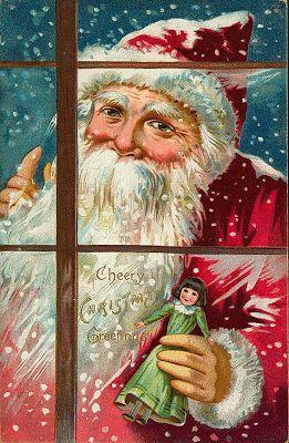 Pere Noel Ancien Cartes postales anciennes: Carte postale ancienne Père Noël