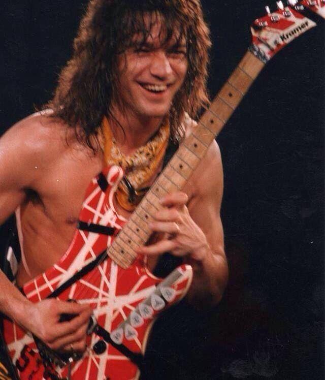 Eddie Van Halen ❤️ why is he so cute!!!?? | Van halen, Eddie van halen, Alex van halen