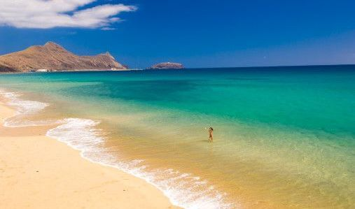 Porto Santo Madeira Islands 9 Km Beach Portugal