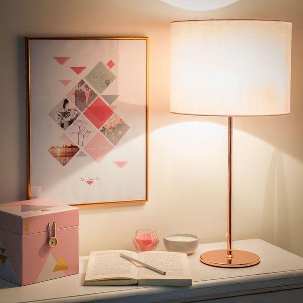 Lampe ISA COPPER aus Metall mit Schlafzimmer ideen - innendekoration ideen