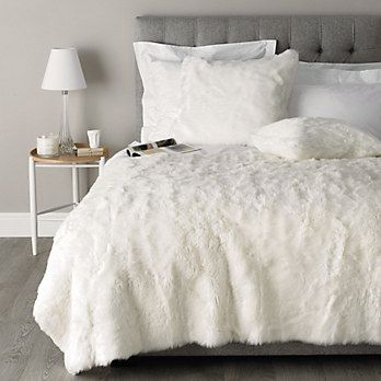 Luxury Faux Fur Throw Bedspreads Cushions The White Company