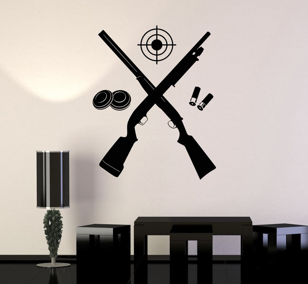 Wall Decal Rifle Shooting Gallery Gun Target Shooter Stickers Ig - Vinyl wall decals at targetwall decor stickers target