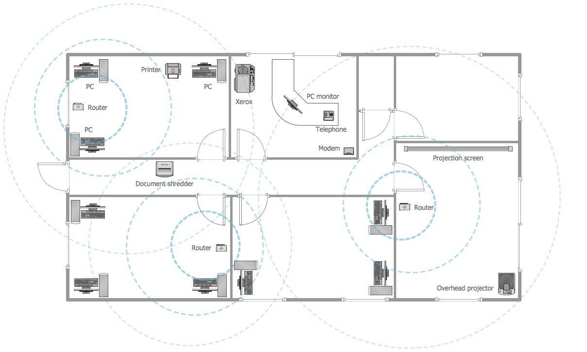Office Layout — Wireless Network Plan Office layout plan