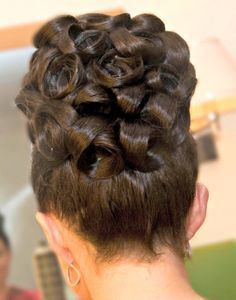 Barrel Curled Deluxe Updo Up Hairstyles Wedding Hair Up Barrel Curls