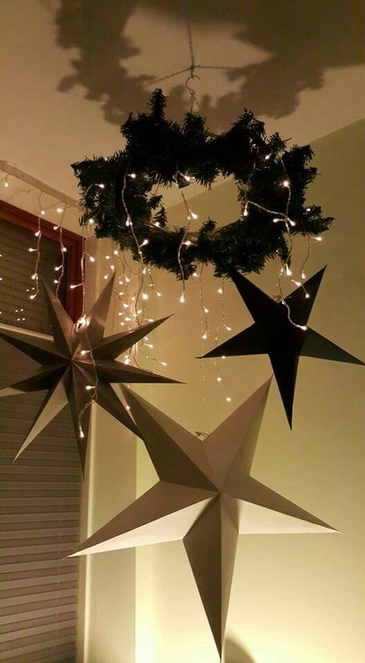Scandinavian Christmas House Doctor Stars Decorating With Christmas Lights Beautiful Christmas Decorations Christmas Lights