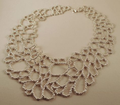 Photo of SHIPPING SALE – Silver Cellular Loops Necklace