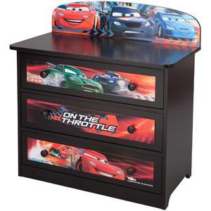 Disney Pixar Cars 3 Drawer Dresser
